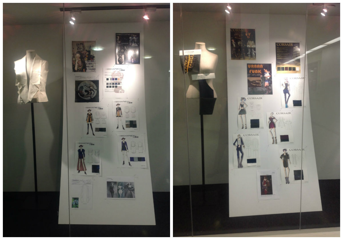 Displays by Fashion Arts students