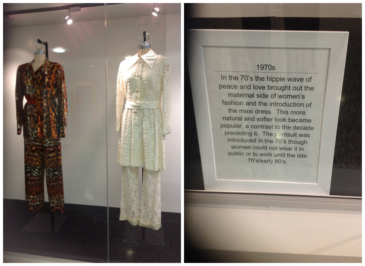 Display of outfits from the 1970s