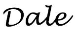 Dale's signature