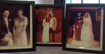 Photos in frames
