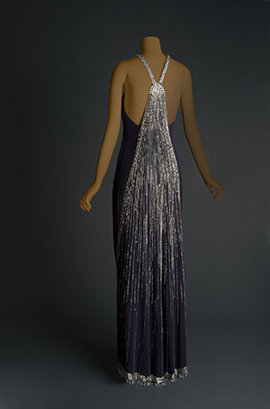 Karl Lagerfield dress from Ebony Fashion Fair, Inspiring Beauty exhibition. Image from mag.rochester.edu