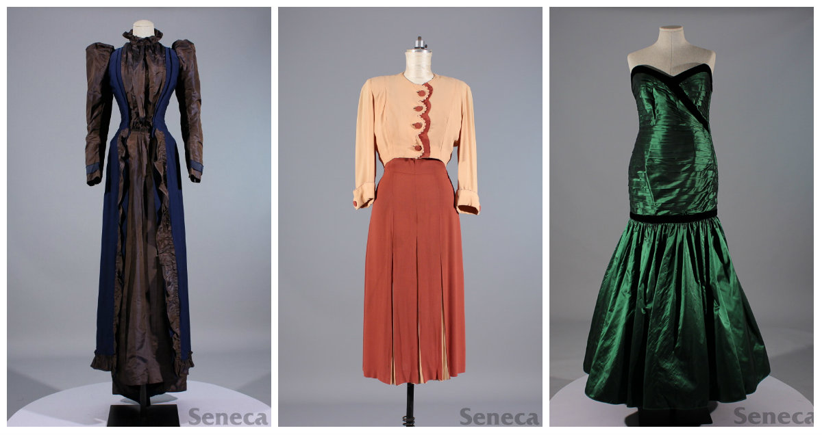 Left: Tea Dress, Middle: Day Dress, Right: Evening Dress