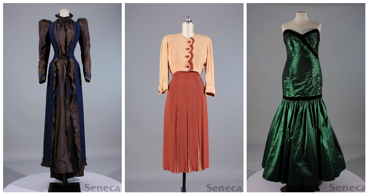 Left: Tea Dress, Middle: Day Dress, Right: Evening Dress
