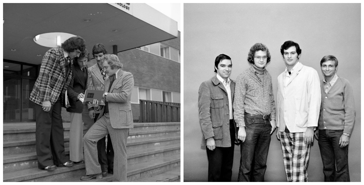 Photos of Seneca students in the 1970s